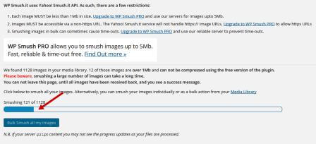 """Bulk Smush all my images""."