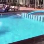 Ржач - имитация рыбной ловли в бассейне, видео