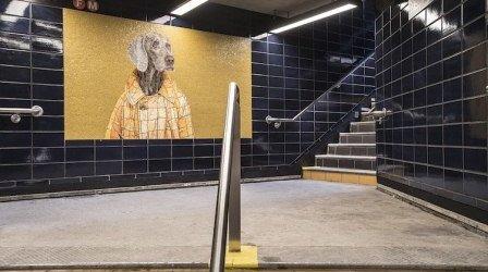 собаки-мозаика-метро