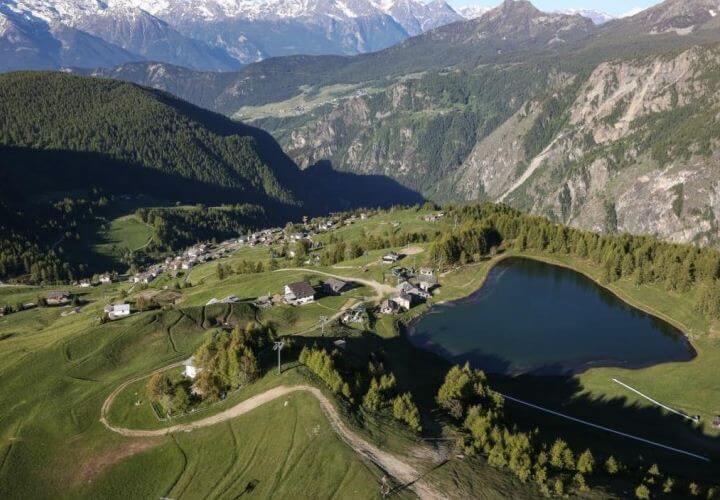 деревня горы