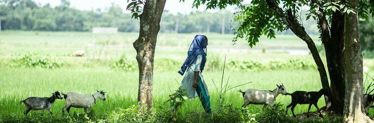 девушка по именеи Руна и ее козы