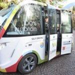 В Мерано электрический автобус без водителя вышел в регулярный рейс