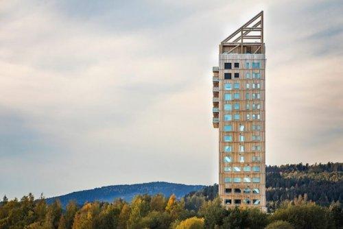 деревянный небоскреб
