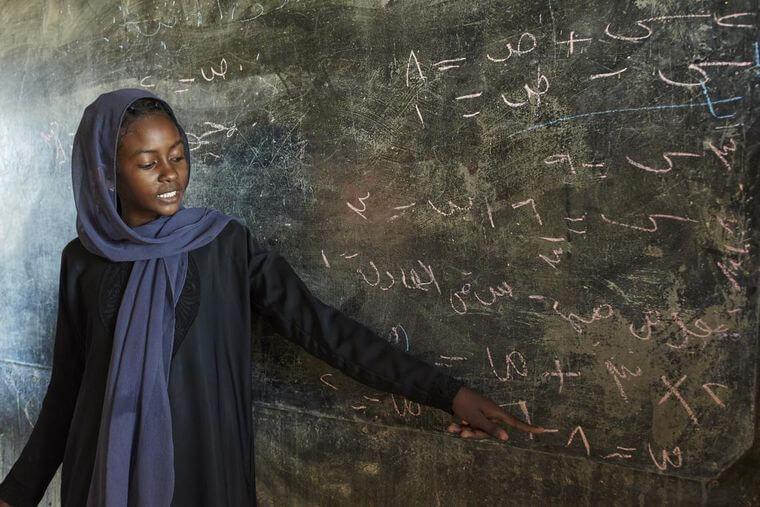 школьница, Судан