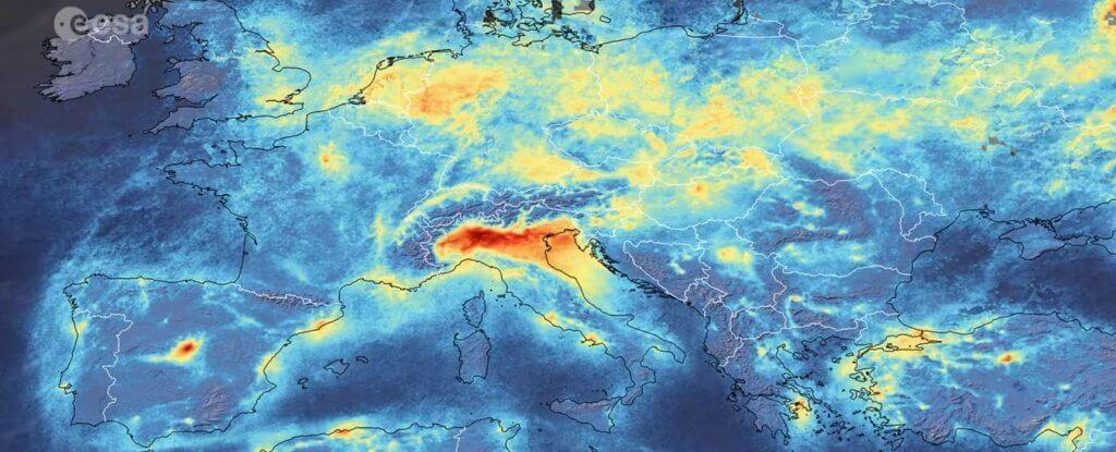 карта изменениий в составе воздуха