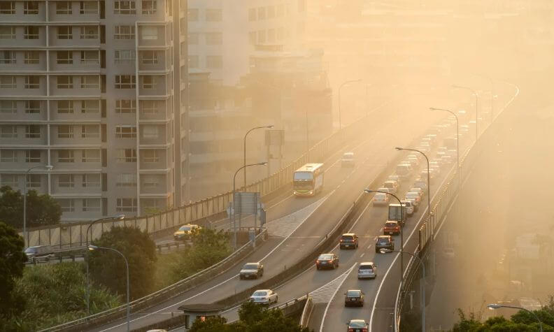 воздух загрязнение город