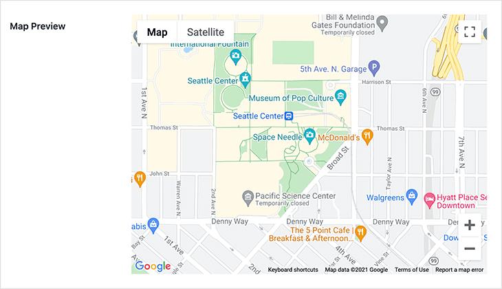 карта-предварительный просмотр